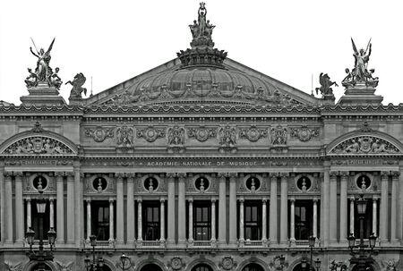palais garnier: The facade of the Opera House (Palais Garnier), Paris, France