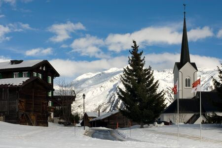 A picturesque Swiss alpine village Stock Photo - 8901965