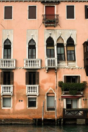An apartment building on a canal, Venice, Italy Stock Photo - 9211242