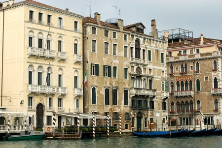 Apartment buildings on the Grand Canal, Venice, Italy photo