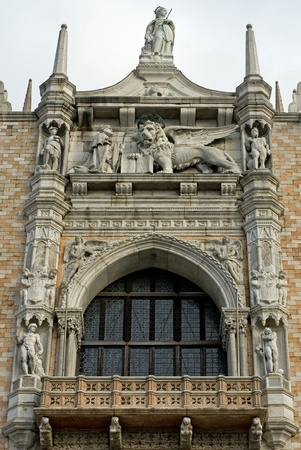 doges: The ornate facade of Doges Palace,St Marks Square, Venice, Italy