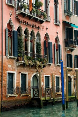 An apartment building on the Grand Canal, Venice, Italy photo