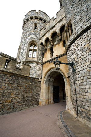 windsor: A walkway in Windsor Castle, England, Great Britain Stock Photo