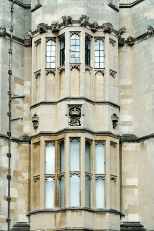 windsor: Windows in Windsor Castle, England, Great Britain Stock Photo