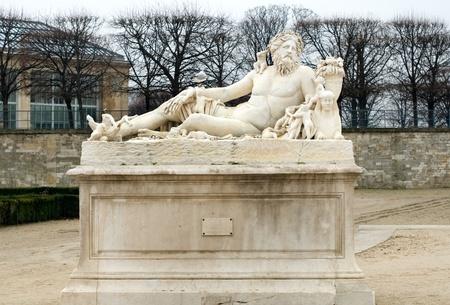 Le Nil, a sculpture by Lorenzo Ottone, in the Jardin des Tuileries, Paris, France photo