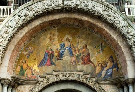 Colourful mosaic, St Mark's Basilica, Venice, Italy Stock Photo - 9302940