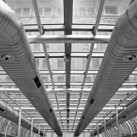 Air-conditioning ducts in a modern building, Melbourne, Australia photo