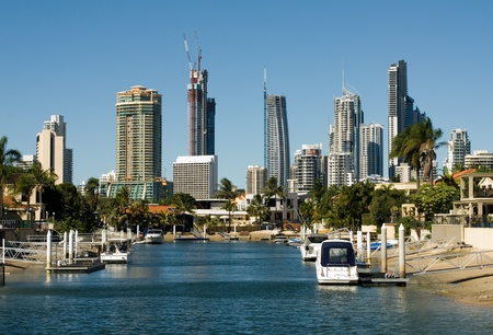 Highrise apartment buildings, Surfers Paradise, Queensland, Australia Stock Photo - 11021863