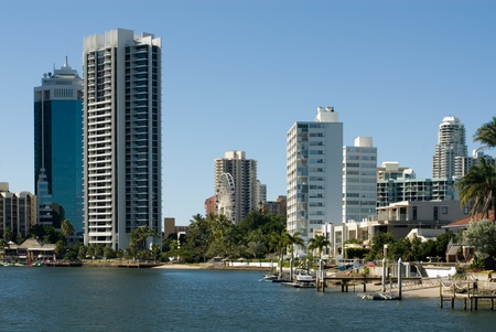 Highrise apartment buildings, Surfers Paradise, Queensland, Australia Stock Photo - 11021431