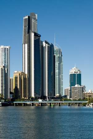 Highrise apartment buildings, Surfers Paradise, Queensland, Australia photo