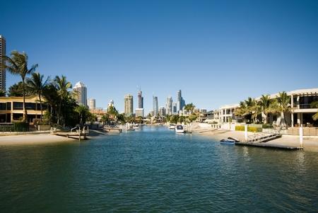 multi story: Canal Scene, Surfers Paradise, Queensland, Australia
