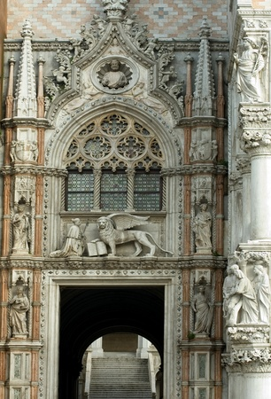 doges: The ornate facade of Doge Stock Photo