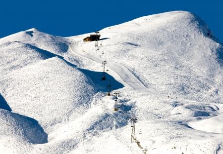 chair lift: A Chair lift and ski runs - Kleine Scheidegg - Switzerland