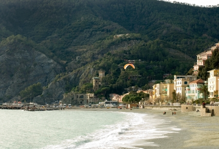 The seafront of the picturesque village of Monterosso, Cinque Terre, Italy Stock Photo - 14473427