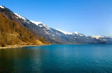 Lac Leman, Schweiz, an einem schönen Winter Standard-Bild
