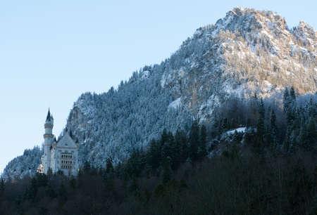 schwangau: The imposing structure of Neuschwanstein Castle, Schwangau, Germany Stock Photo