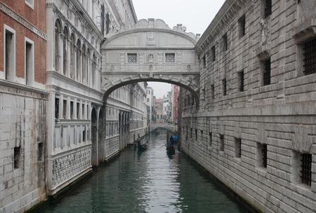 gaol: The historic Bridge of Sighs, Venice, Italy