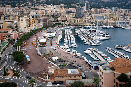 monte carlo: The picturesque harbour in Monte Carlo, Monaco