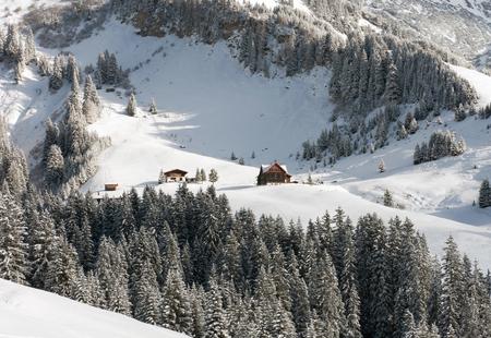 chalets: Chalets, near Mount Biberkopf, Warth am Alberg,Vorarlberg, Austria