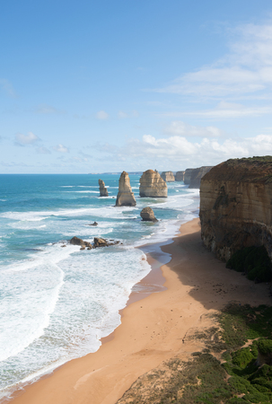 adjacent: The Twelve Apostles, adjacent to the Great Ocean Road, Port Campbell National Park, Victoria, Australia Stock Photo