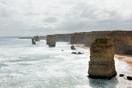 apostles: The Twelve Apostles, adjacent to the Great Ocean Road, Port Campbell National Park, Victoria, Australia Stock Photo