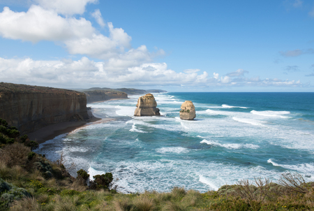 great: The Twelve Apostles, adjacent to the Great Ocean Road, Port Campbell National Park, Victoria, Australia Stock Photo