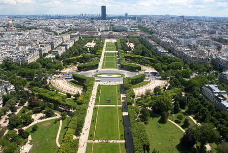 Champ de Mars, Paris, France, captured from the Eiffel Tower