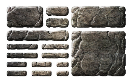 Set of realistic stone interface elements