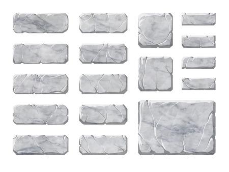 archeology: Set of realistic stone interface elements