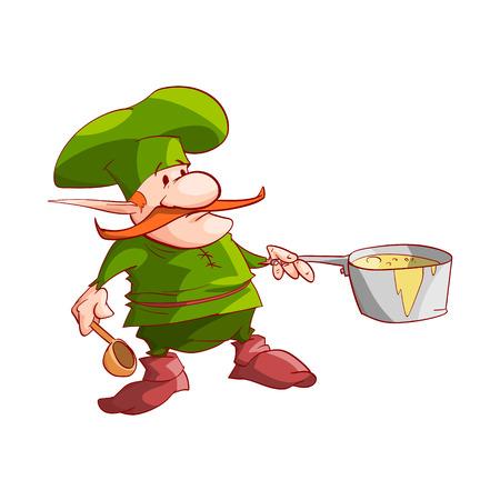 dwarf christmas: Vector dwarf, gnome or Christmas elf