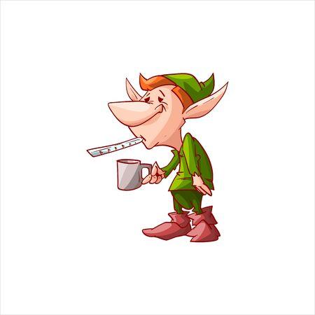 Vector dwarf, gnome or Christmas elf