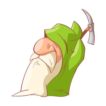 prospector: ilustración vectorial colorido de un enano de la historieta, duende o gnomo Vectores