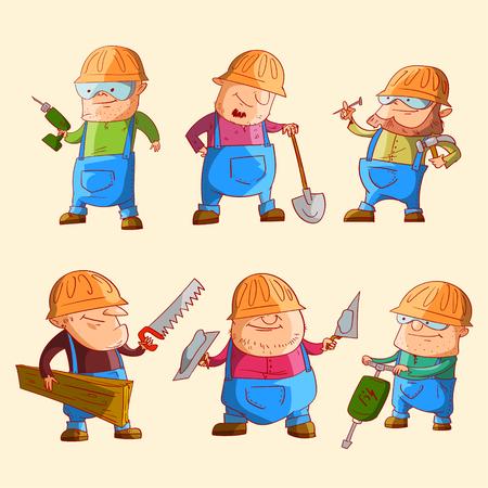 Kleurrijke vectorillustraties van cartoon-karakters