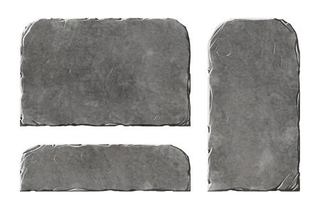 Set van realistische panelen en platen van steenelementen