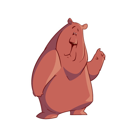 Colorful vector illustration of a cartoon bear Ilustrace