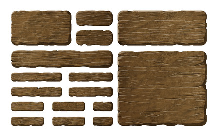 Colorful set of wooden panels or planks that can be used for realistic interface or signs Reklamní fotografie