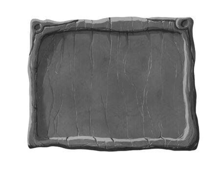 Realistic stone textured User Interface window. 스톡 콘텐츠 - 136948620