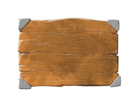 Colorful wooden panel or plank that can be used for realistic interface or signs