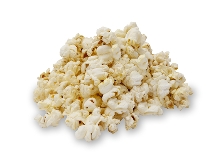 Isolated image of a pile of popcorn, with a drop shadow. 版權商用圖片