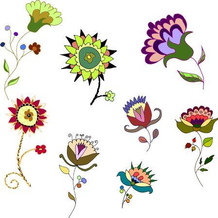 clip art: Floral clip art hand drawn cute flowers
