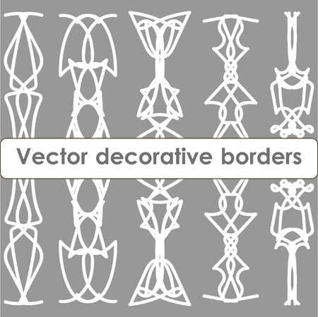 massive: Set of massive decorative vector borders Illustration