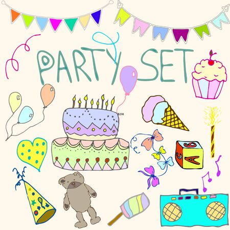 hollidays: Hand drawn party clip art