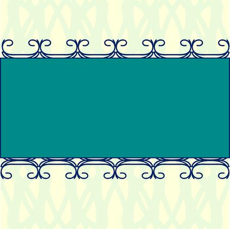 rectangle: rectangle ornament invitation template
