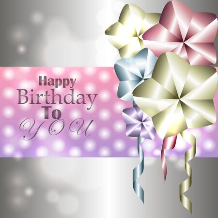 Stylish shiny card for birthday with balloons