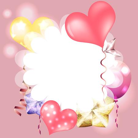 Vorlage Für Geburtstagskarte, Einladung, Valentinskarte Mit ...