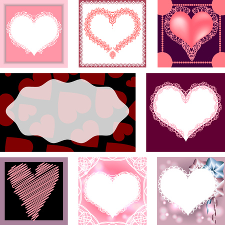 Set Of Templates For Cardsweddingbirthday Invitations With