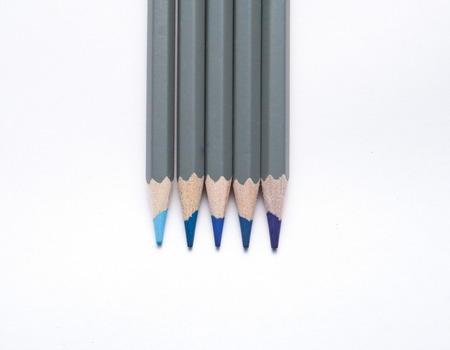 Blue Colouring Pencils Фото со стока