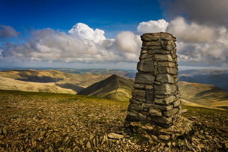 Helvellyn Way Point Фото со стока