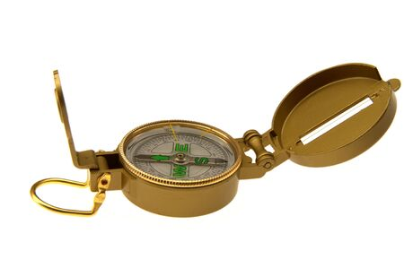 standalone: Compass white background Stock Photo