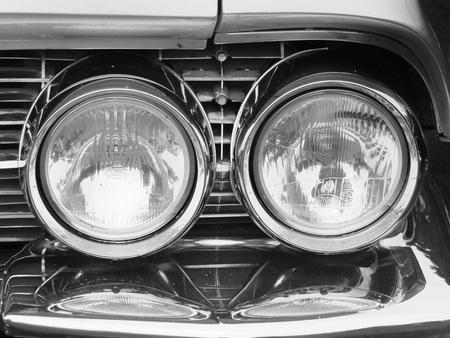 Headlight on a 1950s Cadillac at Hebden Bridge Vintage Weekend 2016